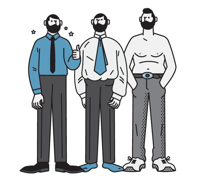 Kestävää, rentoa, coolia – miesten paidat sopivat kaikkiin tyyleihin